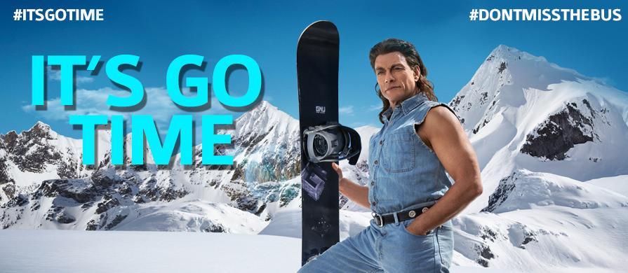 Jean claud Van dam snowboarding