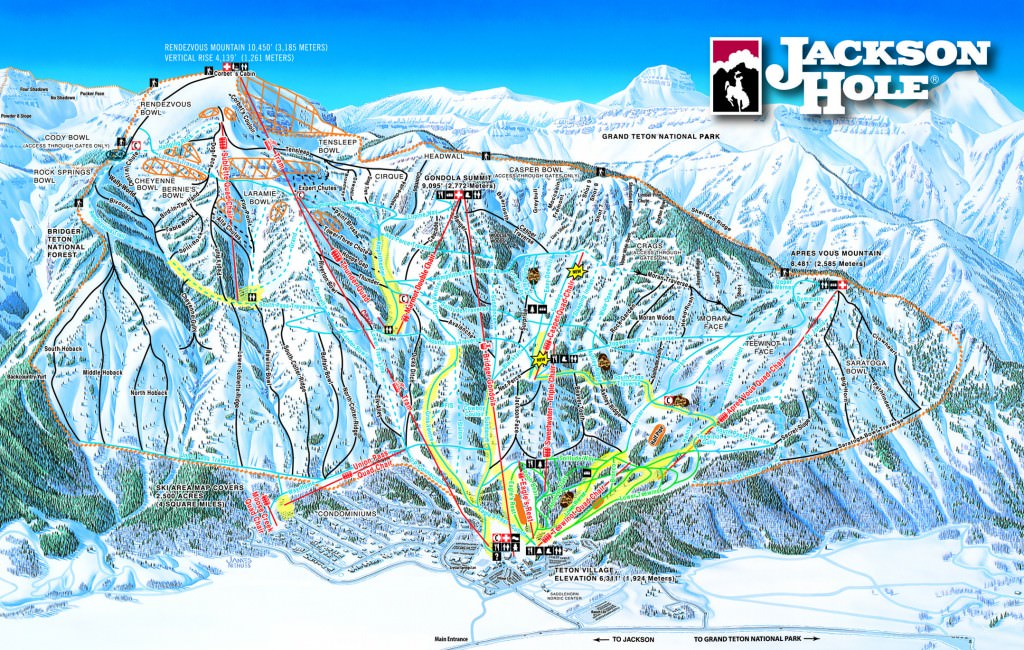 Jackson Hole trail map