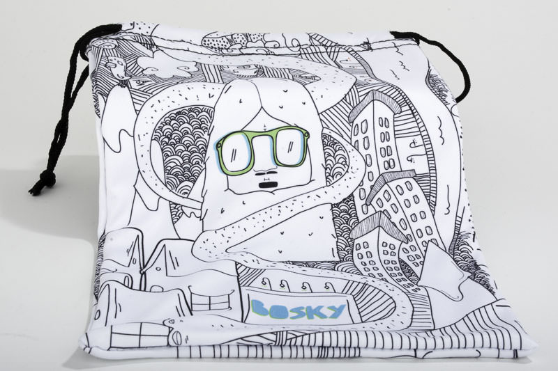 • Microfiber Google Bag Designed by Italian Graphic Designer Matteo Zilla.