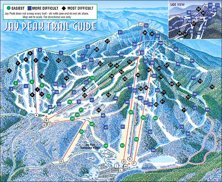 map of ski mountains in vermont with Jay Peak Spring Snow Fiend Ovrnight Mission on Best Northwest Winter Getaways as well Chamonix additionally Trailmap furthermore SnowSummit in addition Washington Ski Resorts Map Poster.