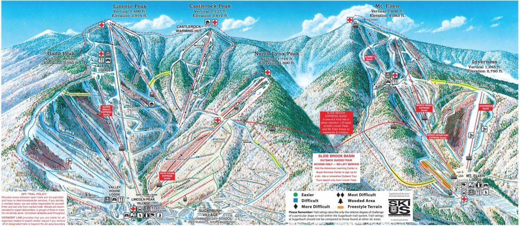 Sugarbush Trailmap