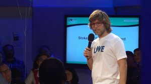 Pro Snowboarder, and founder of The Kevin Pearce Fund, Kevin Pearce Received the Stoked Achievement Award and addressed the audience at last year's event.