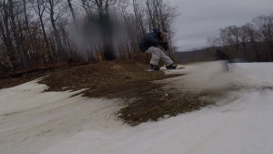 McGrane mobbin over the mud.