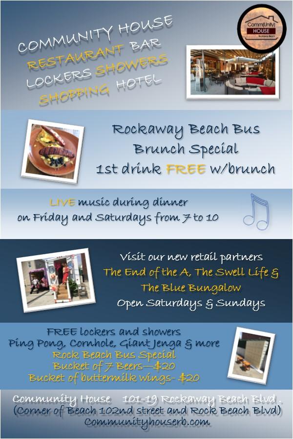 Rockaway Beach Bus Post Card